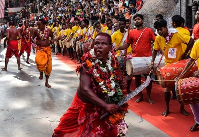PRIEST PERFORM DEODHANI DANCE, Talukdar  Ashim , India