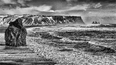 Reynisfjara Black Sand Beach Vik, Clark  Peter , England