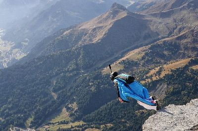 Wingsuit Flyer Monte Lagazuoi, Clark  Peter , England