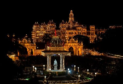 Illuminated Palace, Mane  Chethan Rao , India