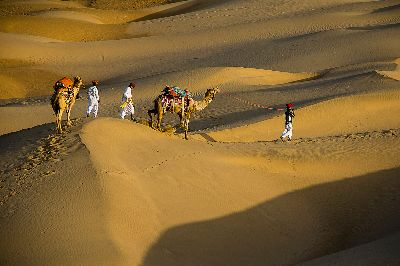 MORNING TIME AT DESERT, Choudhury  Ratnajit , India