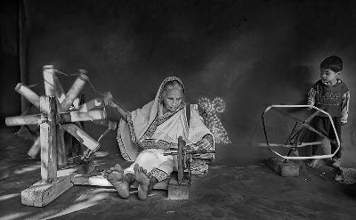 GRANDMOTHER WITH CHORKA, Sen  Debasis , India
