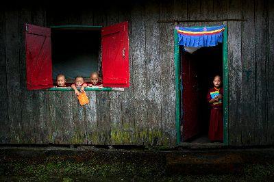 Little Monks - Ready For Study, Saha  Shuvashis , India