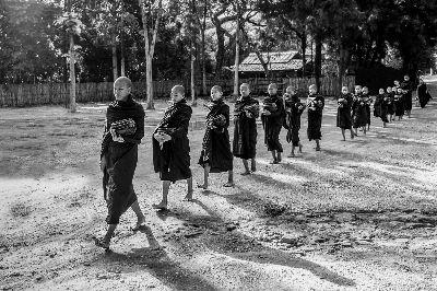 Novice Buddhist Monks, Tran  Yen , Usa