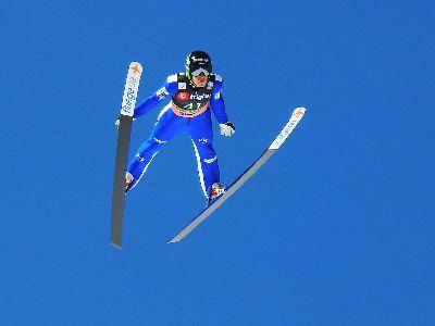 Blue Ski Jumper On The Sky 2, Bricelj  Bogdan , Slovenia