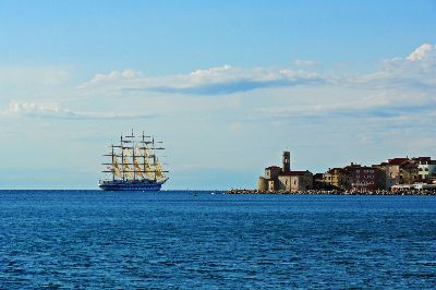 Sailing Boat In Piran, Bricelj  Bogdan , Slovenia