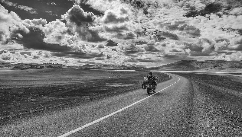 Biker On The Road, Di Panfilo  Vincenzo , Italy