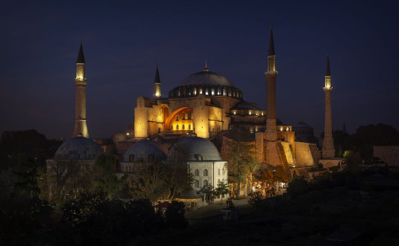 Hagia Sophia At Night, Stoffl  Bernd , Australia
