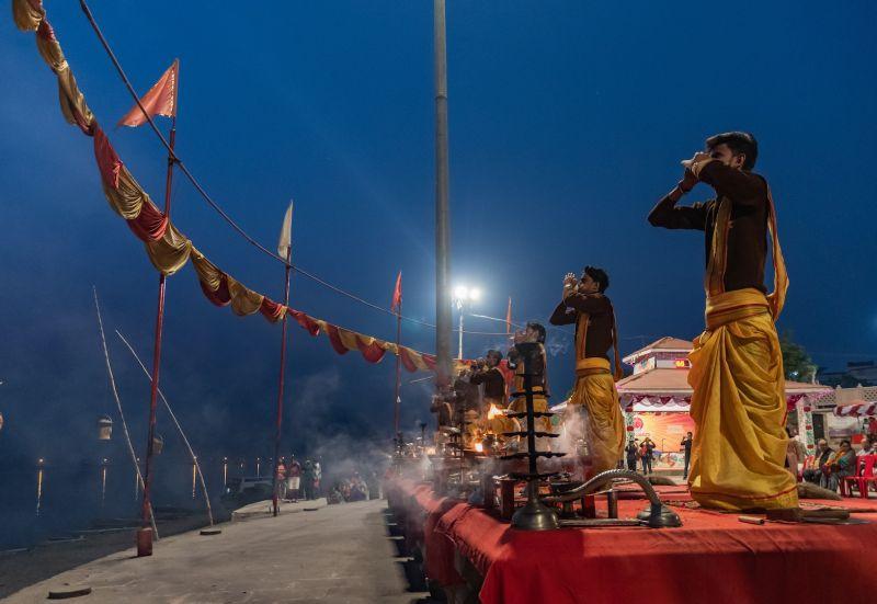 MORNING IN VARANASI, Pandey  Narendra Kumar , India