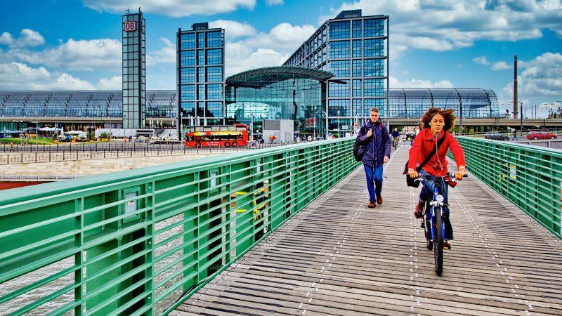 Biker On The Bridge, Griepentrog  Hans-werner , Germany