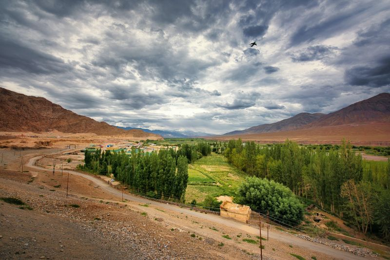 Departing Ladakh, Das  Mayurjyoti , India