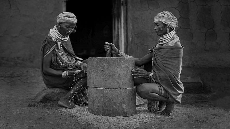 Woman S Grinding Grain, Deshpande  Anil Kumar , India