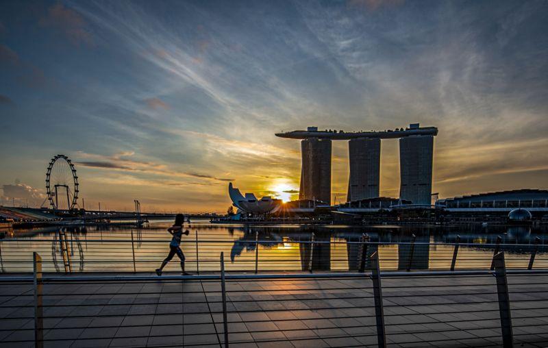 Joging At The Bay, Teo  Han Kim , Singapore