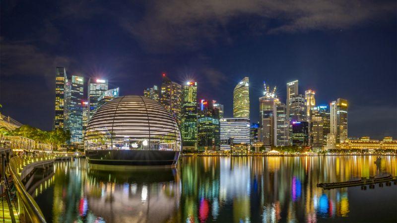 Marina Bay At Night, Teo  Han Kim , Singapore