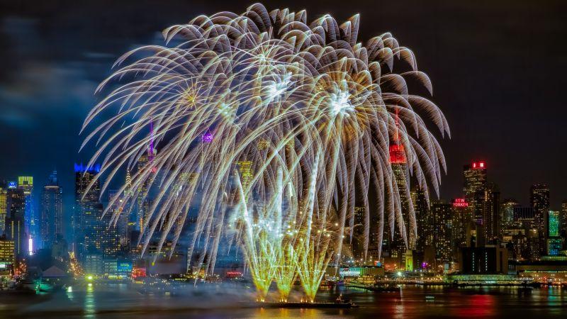 NYC Firework In Action, Fan  Jin , Usa