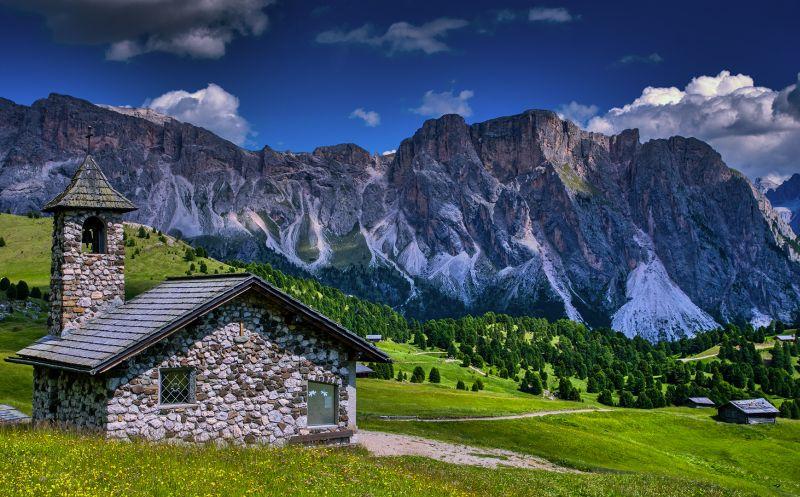 Church In The Dolomites, Schmitz  Willi , Germany