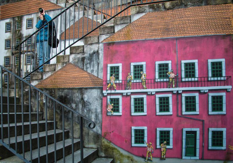 Stairway Through Mural, Sokolskaya  Valentina , Usa