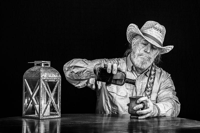 Vintage Man Pours Vintage Wine From Vintage Bottle, Funderburg  Don , Usa