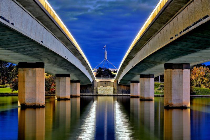 Commonwealth Avenue Bridge Dusk 2, Cannon  Wally , Australia