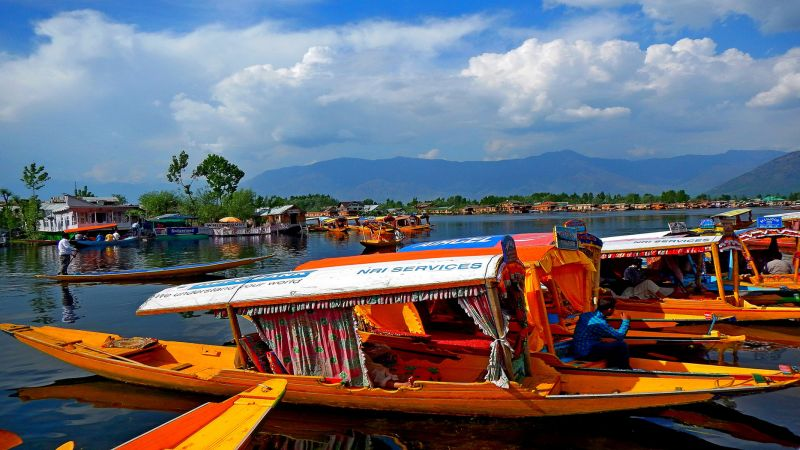Dal Lake In Kasmir-2, K.m  Narayanaswamy , India